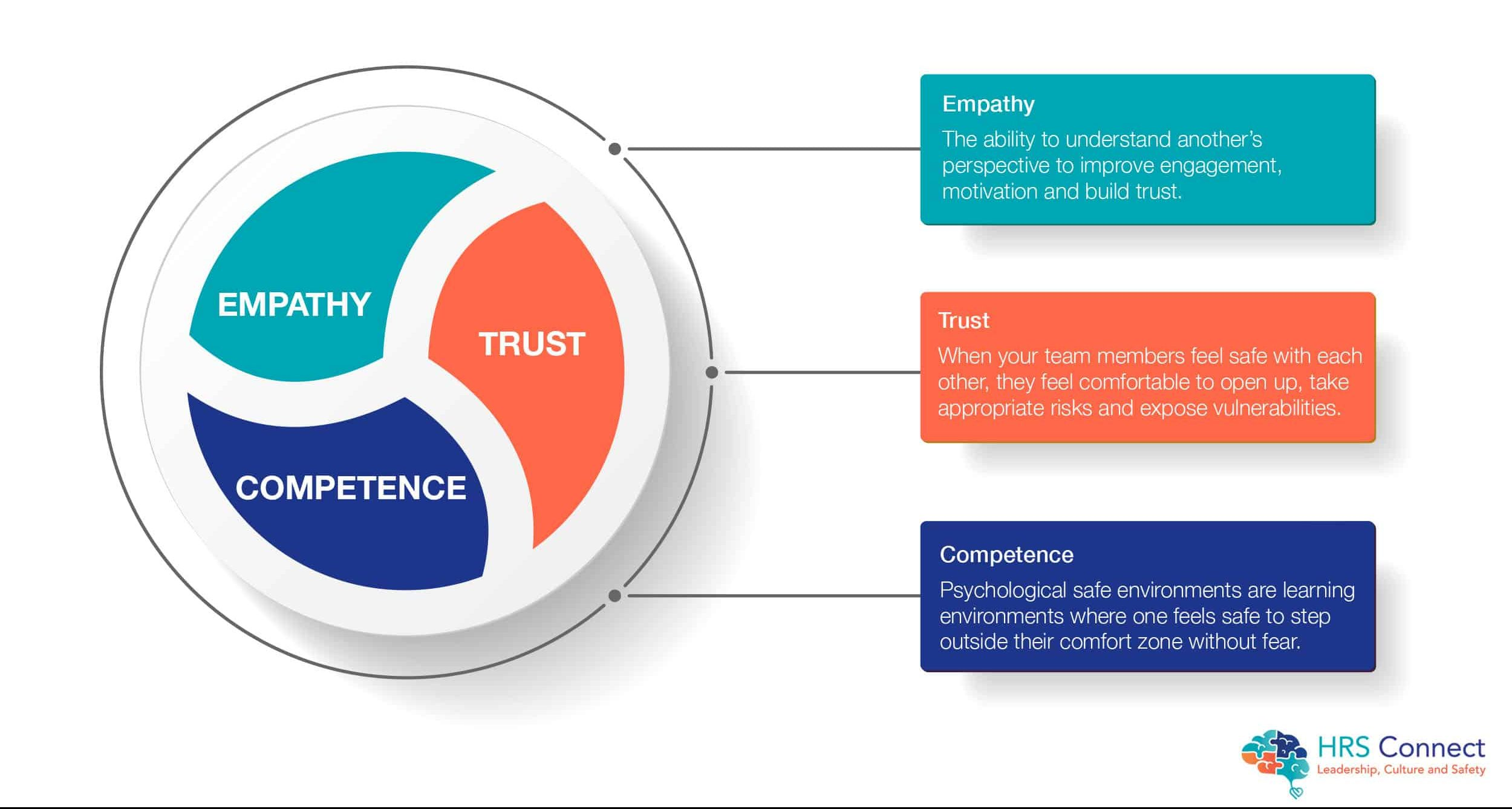 Themes of Psychological Team Safety: Trust, Empathy and Competence